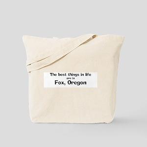 Fox: Best Things Tote Bag