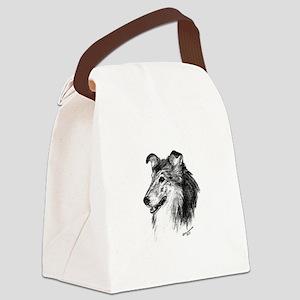 Rough Collie Canvas Lunch Bag