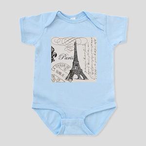 Vintage Paris Eiffel Tower Infant Bodysuit