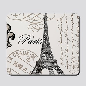 Vintage Paris Eiffel Tower Mousepad