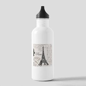 Vintage Paris Eiffel Tower Stainless Water Bottle