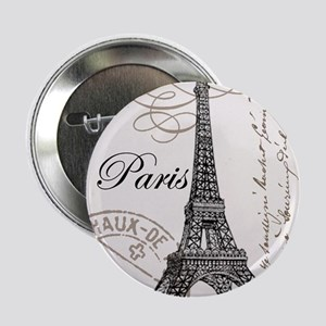 "Vintage Paris Eiffel Tower 2.25"" Button"