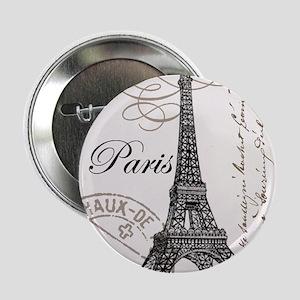 """Vintage Paris Eiffel Tower 2.25"""" Button"""