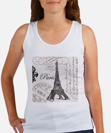 Vintage Paris Eiffel Tower Women's Tank Top
