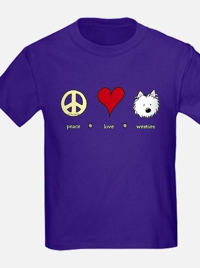 Peace Love Westies T