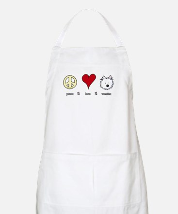 Peace Love Westies Apron