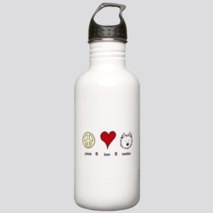Peace Love Westies Stainless Water Bottle 1.0L