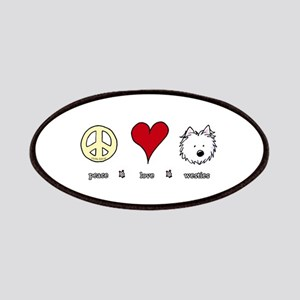Peace Love Westies Patches