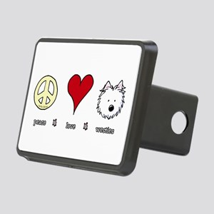 Peace Love Westies Rectangular Hitch Cover