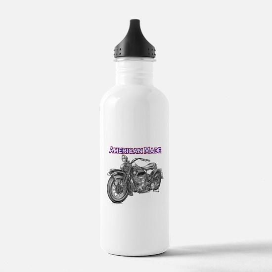 harley davidson Panhead motorcycle Water Bottle
