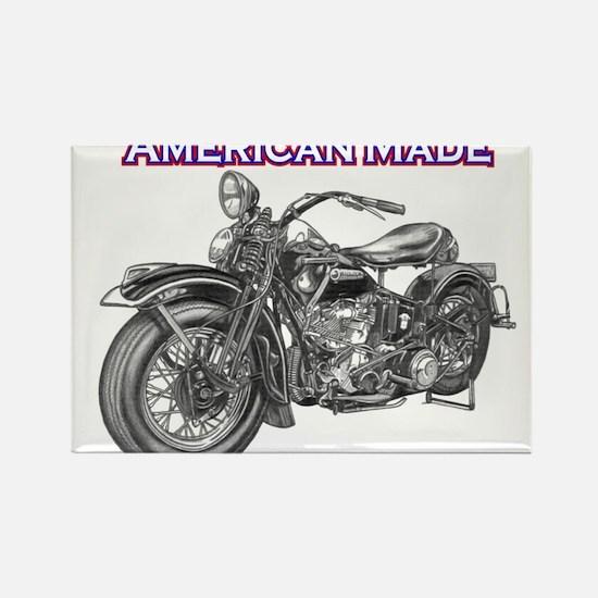 harley davidson Panhead motorcycle Rectangle Magne