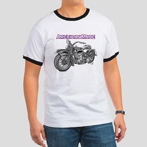 harley davidson Panhead motorcycle Ringer T