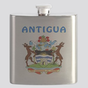 Antigua Coat of arms Flask