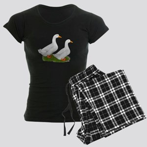 White Pekin Ducks 2 Women's Dark Pajamas