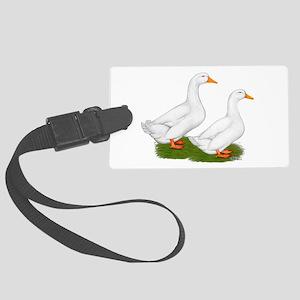 White Pekin Ducks 2 Large Luggage Tag
