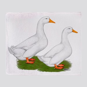 White Pekin Ducks 2 Throw Blanket