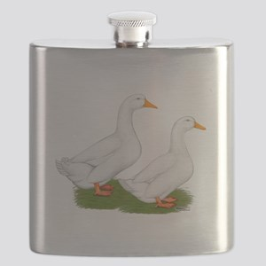White Pekin Ducks 2 Flask