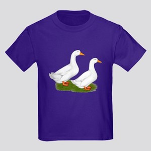 White Pekin Ducks 2 Kids Dark T-Shirt