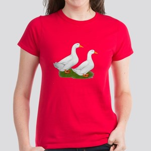 White Pekin Ducks 2 Women's Dark T-Shirt