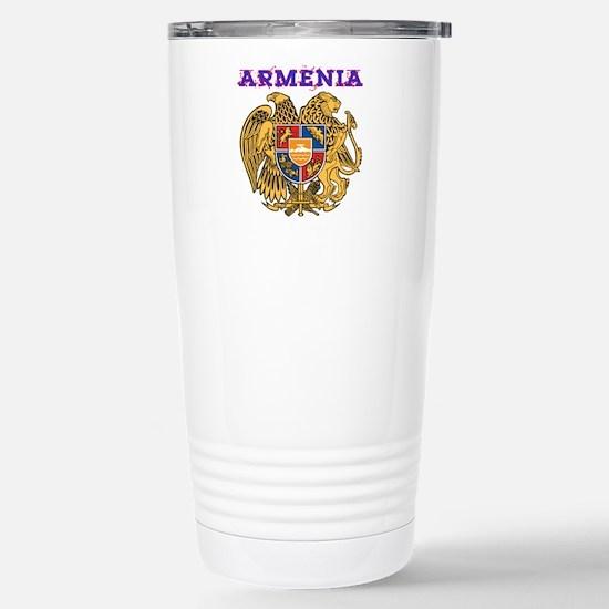 Armenia Coat of arms Stainless Steel Travel Mug