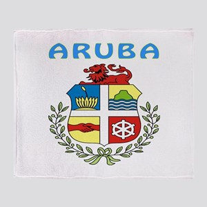 Aruba Coat of arms Throw Blanket