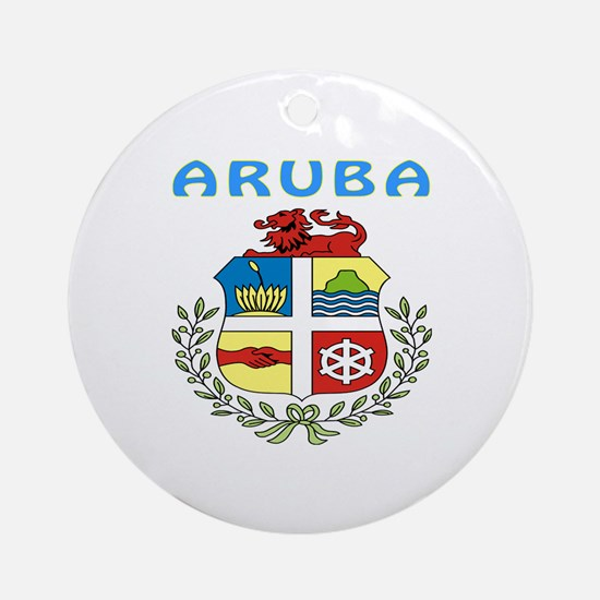Aruba Coat of arms Ornament (Round)