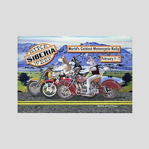 Siberian Husky Siberia Bike Week Magnet