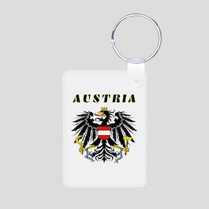 Austria Coat of arms Aluminum Photo Keychain