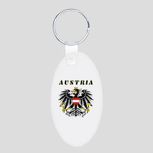 Austria Coat of arms Aluminum Oval Keychain
