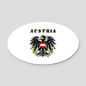 Austria Coat of arms Oval Car Magnet