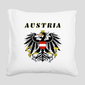 Austria Coat of arms Square Canvas Pillow