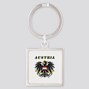 Austria Coat of arms Square Keychain
