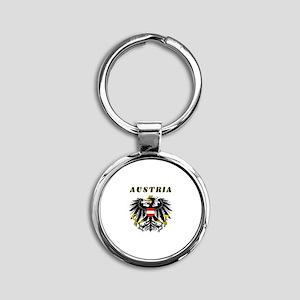 Austria Coat of arms Round Keychain