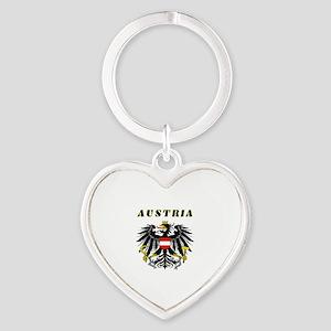 Austria Coat of arms Heart Keychain