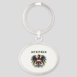 Austria Coat of arms Oval Keychain