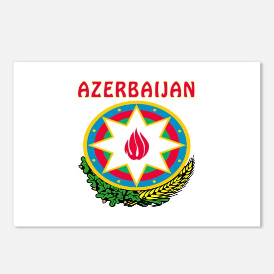 Azerbaijan Coat of arms Postcards (Package of 8)