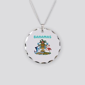 Bahamas Coat of arms Necklace Circle Charm