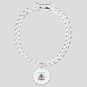 Bahamas Coat of arms Charm Bracelet, One Charm