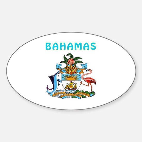 Bahamas Coat of arms Sticker (Oval)