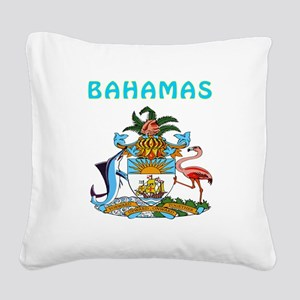 Bahamas Coat of arms Square Canvas Pillow