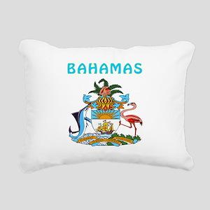 Bahamas Coat of arms Rectangular Canvas Pillow