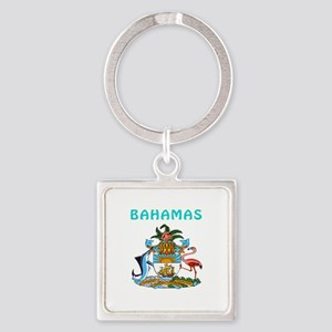 Bahamas Coat of arms Square Keychain