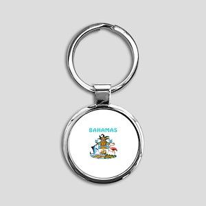 Bahamas Coat of arms Round Keychain