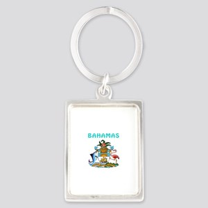 Bahamas Coat of arms Portrait Keychain