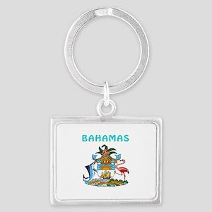 Bahamas Coat of arms Landscape Keychain