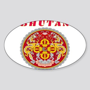 Bhutan Coat of arms Sticker (Oval)
