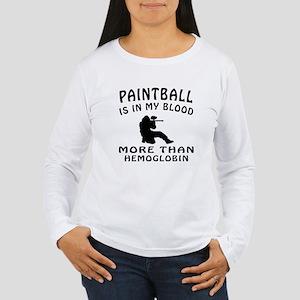 Paintball Designs Women's Long Sleeve T-Shirt
