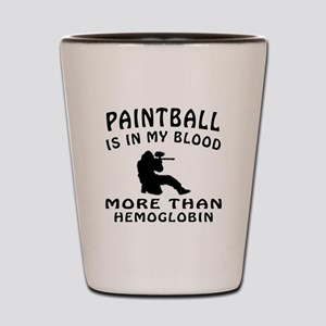Paintball Designs Shot Glass
