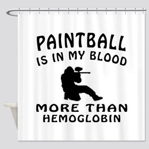 Paintball Designs Shower Curtain