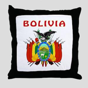 Bolivia Coat of arms Throw Pillow